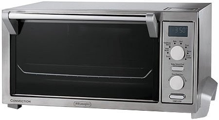 DeLonghi Digital Convection Oven and Toaster Features Convection Cooking of 30-40% Faster, and Extra Large Durastone ll Interior, with 8 Pizza Settings, has Digital Controls Automatic Shutoff and a LCD Display, with a Two Hour Digital Timer and Smart Cookie Function, Includes a Broil Pan and 2 Wire Racks with BONUS Dehydration Kit (Toaster Oven Pans Delonghi compare prices)