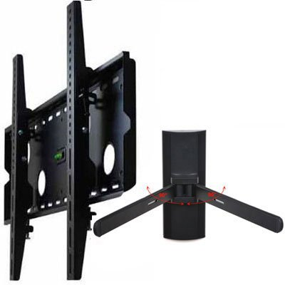 """Videosecu Tilt Tv Wall Mount For Most 32""""-63"""" Plasma Lcd Led Tv Flat Panel Display With Dvd Dvr Vcr Wall Mount Mp501Bkit Blc"""