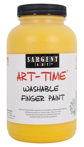 Sargent Art 22-9402 16-Ounce Art Time Washable Finger Paint, Yellow