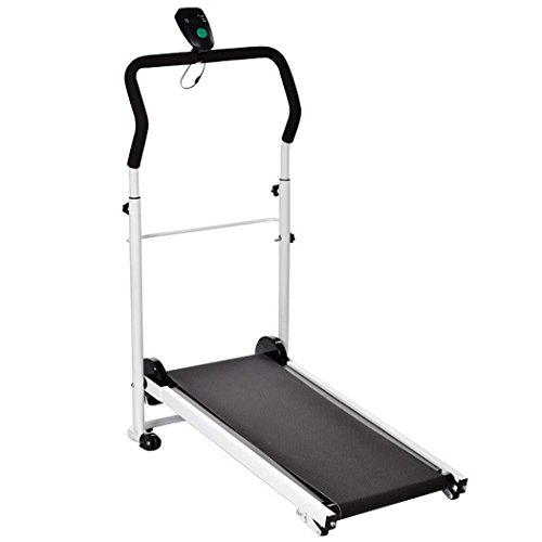 New Ancheer Small Running Folding Treadmill Exercise Machine Cardio Fitness Non Electric