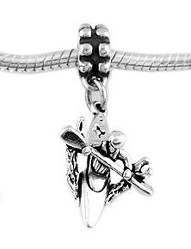 Sterling Silver Three Dimensional Kayaker in