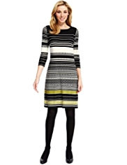 M&S Collection Multi-Striped Tunic Dress