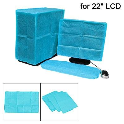 Blue LCD Computer Nonwoven Fabric Dust Cover Cap 22