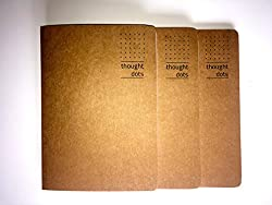 Thought Dots - Dotted grid notebook (perforated pages) - Pack of THREE