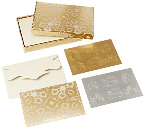 oro-y-plata-correspondence-diecut-boxed-notecards