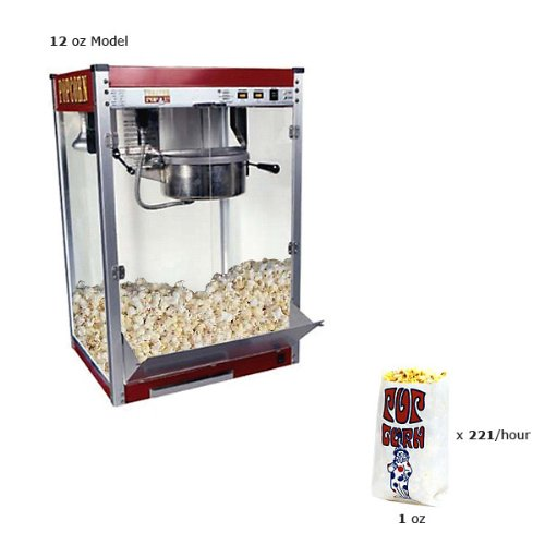 Paragon TP-12 Theater Pop Commercial 12-Ounce Popper Popcorn Machine (Heating Element Popcorn Machine compare prices)