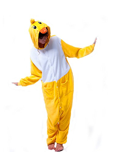 Pajamas Anime Costume Adult Animal Onesie Duck Cosplay Yellow