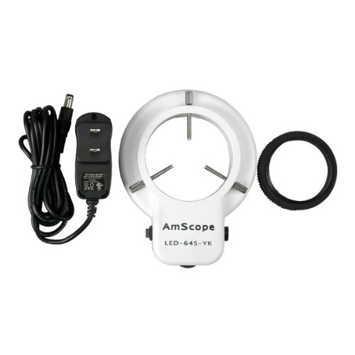 AmScope-LED-64S-64-LED-Microscope-Ring-Light-with-Dimmer