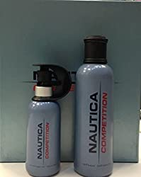 NAUTICA COMPETITION Cologne. 2 PC. GIFT SET (COLOGNE SPRAY 2.4 oz + AFTERSHAVE 4.2...