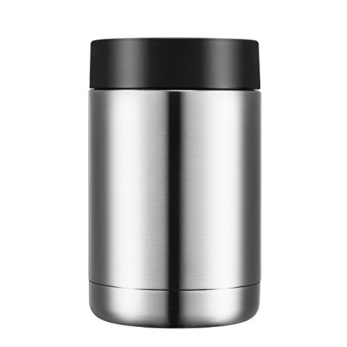 Homitt 12 oz Stainless Steel Can Cooler, Beverage Can Insulator, Double Wall Vacuum Thermos for both Hot & Cold (12 Can Beverage Cooler compare prices)