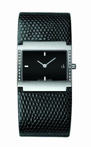 Calvin Klein K0428304 Ladies Black Dial Watch