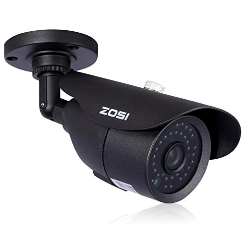 ZOSI 1/3″ CMOS 1000TVL 960H CCTV Home Surveillance Weatherproof 3.6mm lens with IR Cut Bullet Security Camera – 42PCS Infrared LEDs, 120ft IR Distance, Aluminum Metal Housing