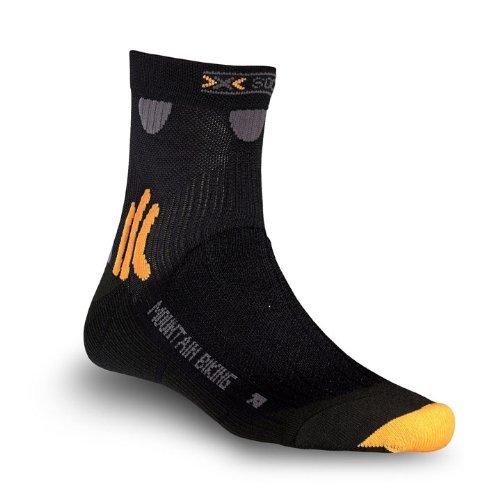 X-Socks Men's MTN. Biking Short Sock,Black,Large