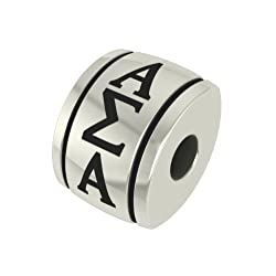 Alpha Sigma Alpha Barrel Sorority Bead Fits Most Pandora Style Bracelets Including Pandora Chamilia Biagi Zable Troll and More. High Quality Bead in Stock for Immediate Shipping