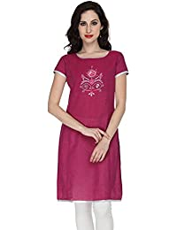 Awesome Women's Purple Cotton Straight Kurta - B0713QP8RJ