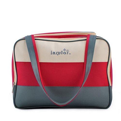 L.Sense Large Multi-function Nylon Tote Top Handles Baby Diaper Bag Set of 3 - 1
