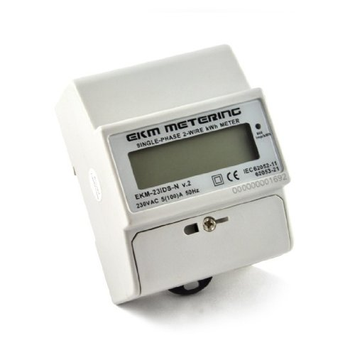 230 Volt Single-Phase Electric Meter, 2-Wire, 50/60Hz