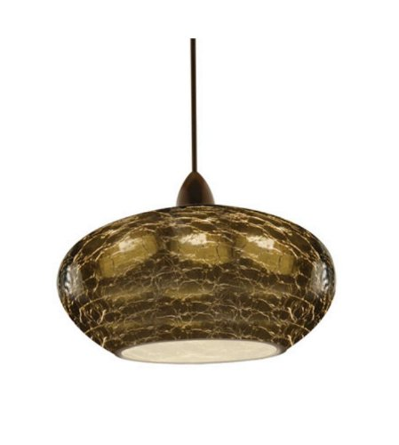 WAC Lighting  QP534SMDB Rhu  One Light Pendant, Dark Bronze Finish with Smoke Glass