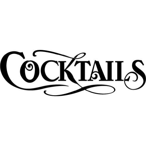 Cocktails - Vinyl Wall Decal (Small) front-152192