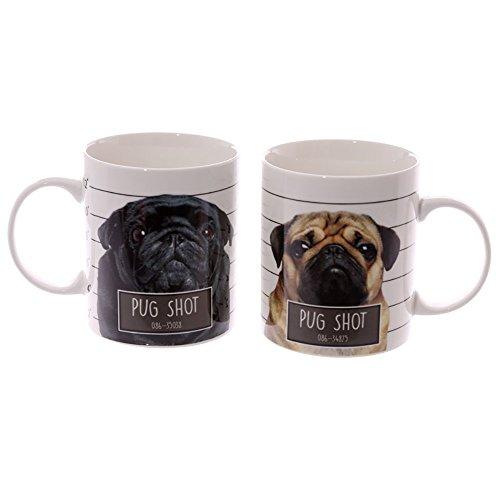 Set di Tazze mug colazione design Pug Carlino by Jack Evans