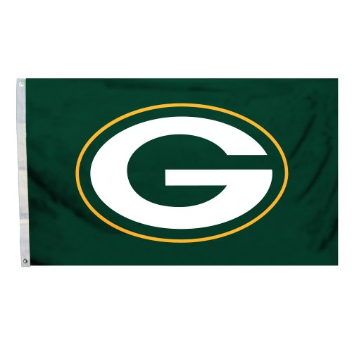 NFL Green Bay Packers Logo Only 3-by-5 Feet Flag with Grommetts at Amazon.com