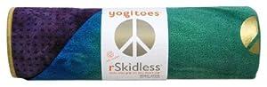 Yogitoes Premium Mat Size Yoga Towel (Peacock, 24 x 68-Inch)