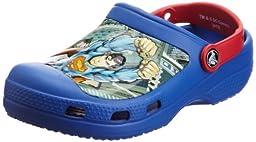 Crocs Kids 14017 Superman Clog (Toddler/Little Kid),Sea Blue/Red,3 M US Little Kid