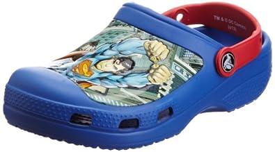 Crocs Cc Superman Clog Boys, Sabots garçon, Bleu (Sea Blue/Red), EU 29-31 (C12/13)