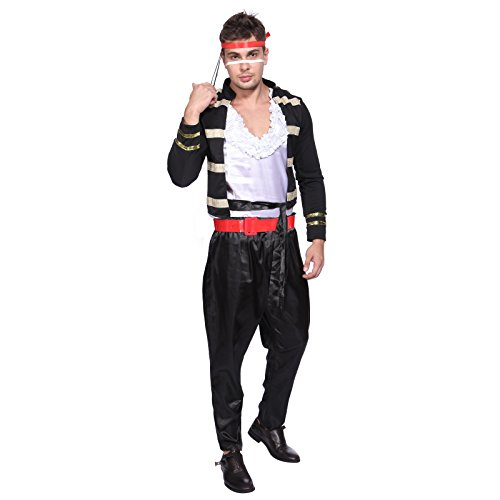 Budget Price Adam Ant Adult Fancy Dress Costume for Adults
