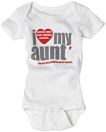 Amazon.com: Sara Kety Unisex-Baby Newborn I Love My Aunt One: Clothing
