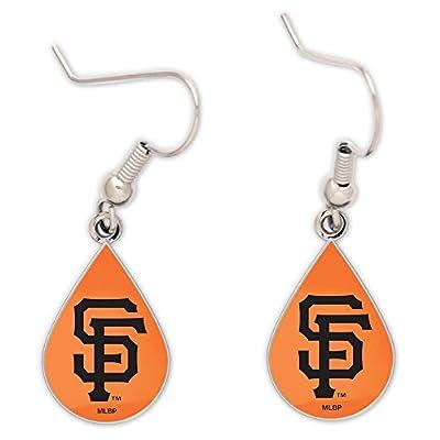 MLB San Francisco Giants Tear Drop Earrings, Large, Multi