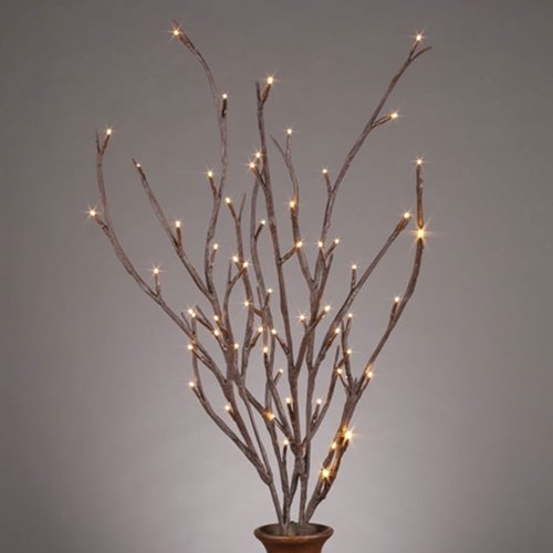 Lighted Brown Branches, 39 In. Led Battery Op Set Of 2, Outdoor, Timer