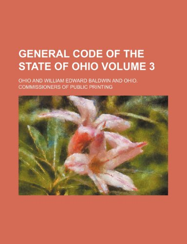General Code of the State of Ohio Volume 3