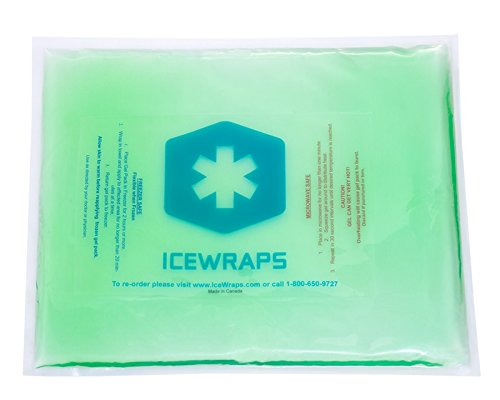 Green 10x12 Gel Pack Reusable Large Ice Pack, Microwavable Hot Pack, Cooling Pad, Pain Relief First Aid By IceWraps