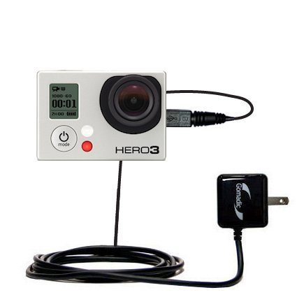 Gomadic High Output Home Wall AC Charger designed for the GoPro Hero3 with Power Sleep technology - Intelligently designed with Gomadic TipExchange (Gopro Hero3 Power Cord compare prices)