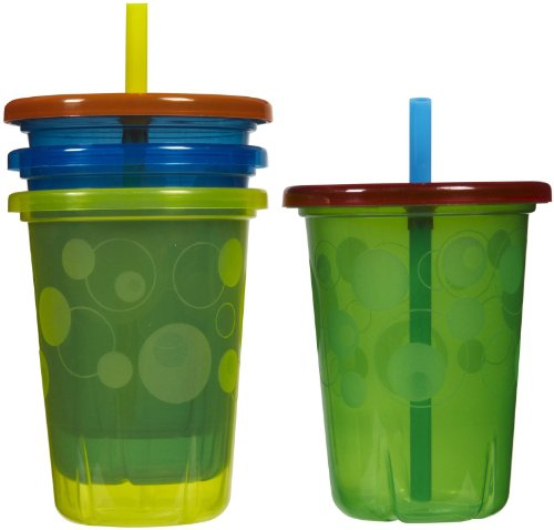The First Years Take & Toss Straw Cup - Girl - 10 oz - 4 ct