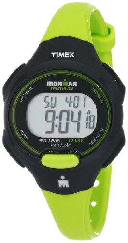 Timex Women's T5K527 Ironman Traditional 10-Lap Bright Green/Black Resin Strap Watch