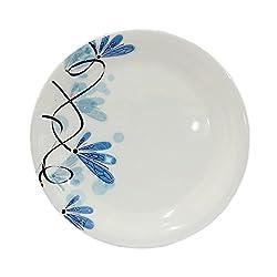 Borosil 6 Milano Melamine Small Plates 6N(Blue Flower)