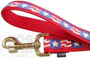 Patriotic Pet Leash - 3/4 Inch, 4 Feet Long