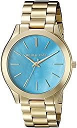 Michael Kors Women\'s Slim Runway Gold-Tone Watch MK3492