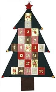 172cm XXL Adventskalender Advent Kalender Deko Wandbehang Weihnachtsdeko Geschenk Weihnachten zum aufhängen MT 878550