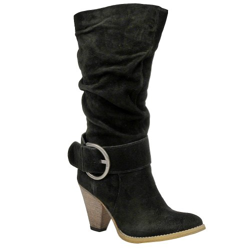 Very Volatile Women's Chaser Boot - 10 M - Black-Suede