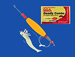 DOA DEADLY COMBO SHRIMP PRE-RIGGED JIG RIG GLOW D.O.A.