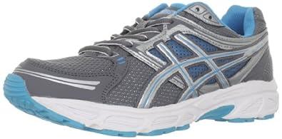 ASICS Women's GEL-Contend Running Shoe,Titanium/Lightning/Electric Blue,11.5 M US