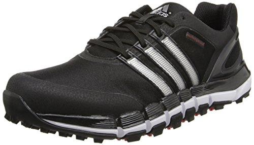 adidas Men's Pure 360 Gripmore Golf Shoe,Black/Metallic Silver,11.5 M US