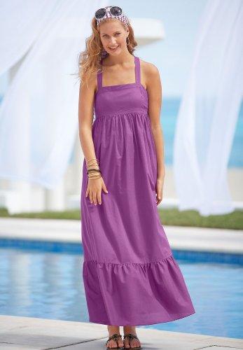 Flounced-Hem Maxi Dress Chadwicks