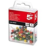 5 Star Map Pins 5mm Head Assorted [Pack of 100]