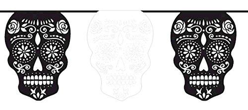 """O Halloween. """"El Día de los Muertos"""" Muertos cráneo GARLAND"""
