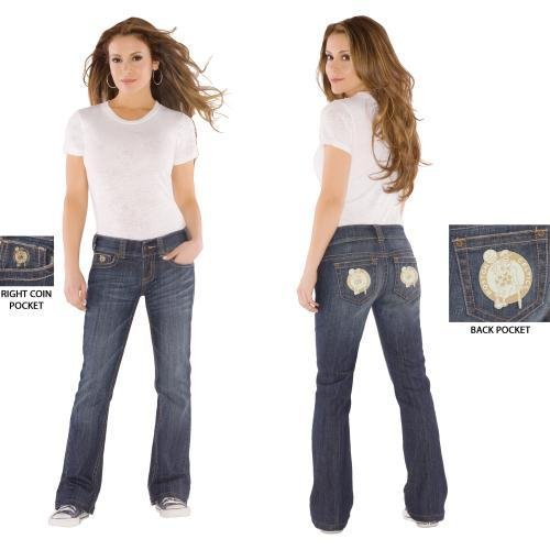 NBA Touch by Alyssa Milano Boston Celtics Women's Signature Jeans (32) at Amazon.com