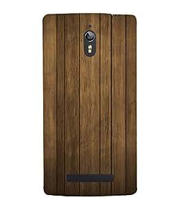 Classic Wood Design 3D Hard Polycarbonate Designer Back Case Cover for Oppo Find 7